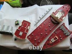 Vintage Wen-Mac Texaco SS North Dakota Toy Model Tanker Ship 27 missing parts