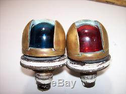 Vintage Wilcox-Crittenden Brass Bronze Boat Navigation Lights Red Green