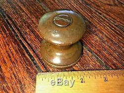 Vintage Wilcox Crittenden Bronze Snubbing Winch 2 1/8 Base, 2 1/8 Tall