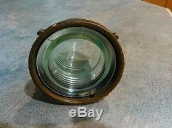 Vintage Wilcox Crittenden Stern Light. Cover. Lens. Brass Base. Large. Passage. Ship