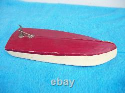 Vintage Wood Battery Operated Model Boat PARTS ONLY