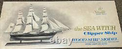 Vintage Wood Scientific Model SEA WITCH Clipper Ship Unbuilt withBox all parts