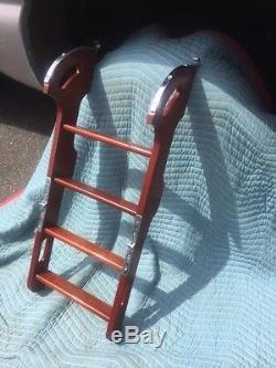 Vintage Wood Wooden Folding Boat Swim Ladder Chris Craft