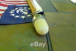 Vintage Wooden Boat Flag Pole with Light 1-1/2 diameter