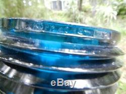 Vintage boat parts Kopp 4072 Lens red & blue light chris craft and others