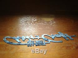 Vintage chris craft sea skif name plate emblem stainless steel wood boat 23