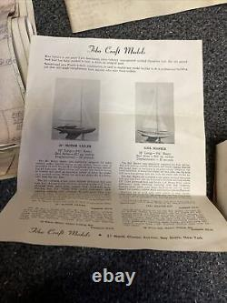 Vintage cool 1960s Fibo Craft Rc Sail Boat Parts And Plans