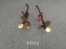 Vintage toy boat 1950's K&O ITO 18 Wooden Model Speed boat PROP Parts