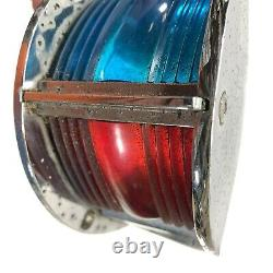 Vtg 1964 Starcraft Holiday Bow Light Chrome Red & Blue Lens 60s Boat Parts