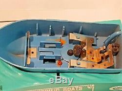 Vtg 1967 Ideal Motorific Boats -king Of The Sea- For Parts No Motor Not Working