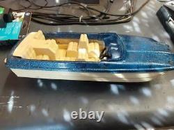 Vtg 60s Tonka Boat Blue Sparkle Boat Needs Wheels Parts Restoration