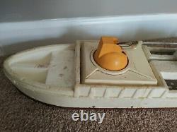 Vtg Mattel Vertibird Coast Guard Rescue Ship Large Styrofoam Toy Boat for parts