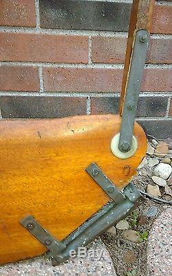 Vtg Wood Brass Sunfish Sailboat Class Legal Rudder/Tiller Assembly all Original